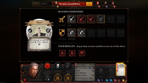 Geralt in questo caso non riceverà ferite, ma contemporaneamente non ucciderà il mostro