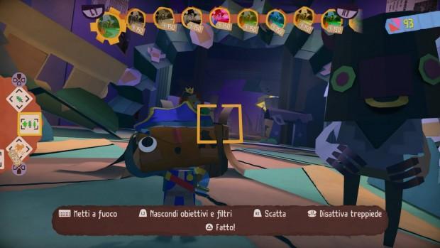 """""""La macchina fotografica permette di sbloccare dei progetti per realizzare dei modellini in carta dei vari personaggi ed elementi del gioco""""."""