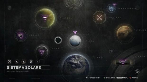 Screenshot della mappa di Destiny: Il Re dei Corrotti.