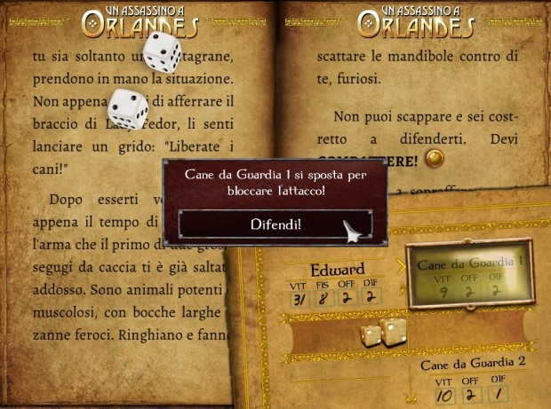 Un Assassino a Orlandes: screenshot di un combattimento.