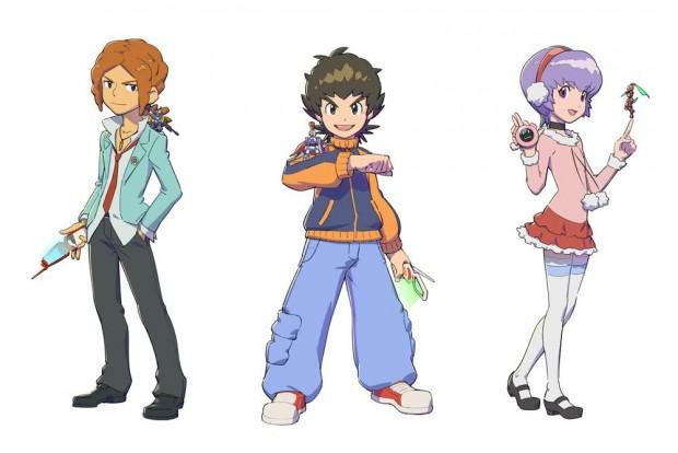 Illustrazione raffigurante i personaggi Kazuya, Van e Amy.