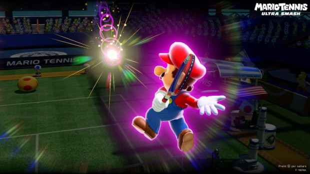 Mario impegnato in un colpo speciale.