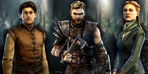 Game of Thrones: illustrazione coi tre personaggi affiancati.