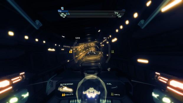 Sublevel Zero: tunnel visto dall'interno della navetta.
