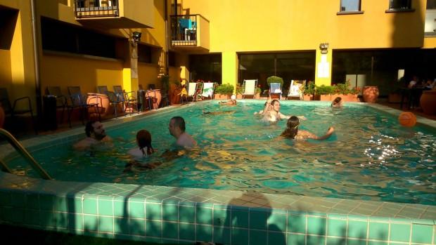 La piscina di EtrusCon con dei natanti.