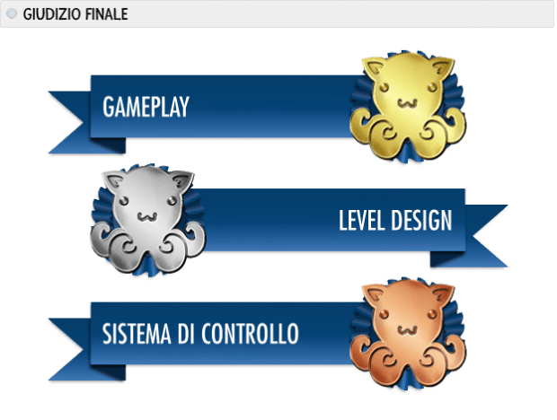 Tinboy Premi: gameplay oro, level design argento, sistema di controllo bronzo