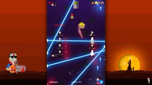 laser shooting stars