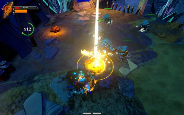 Utilizzare una spada elementale si traduce in una discreta quantità di particellari su schermo.