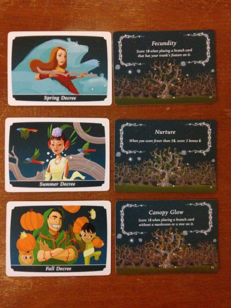 Kodama: The tree spirits - Le decree cards