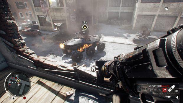 Il Goliath è il primo e l'unico boss del gioco. Cinque missili e va giù.