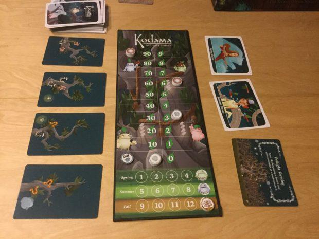 Kodama: The tree spirits - Il tabellone segna-punti