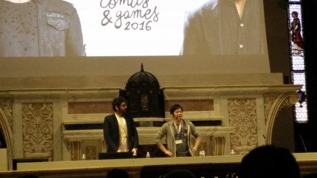 Hajime Tabata saluta la stampa italiana a inizio conferenza