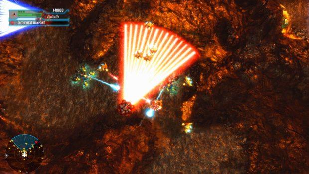 Negli spazi angusti delle caverne piene di lava siamo circondati dai nemici, e il radar non promette niente di buono...
